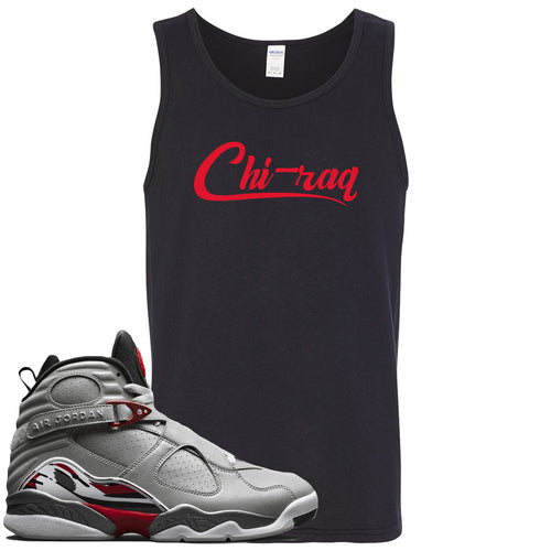 Air Jordan 8 Reflections of a Champion Sneaker Match Chi-raq Script Black Mens Tank Top