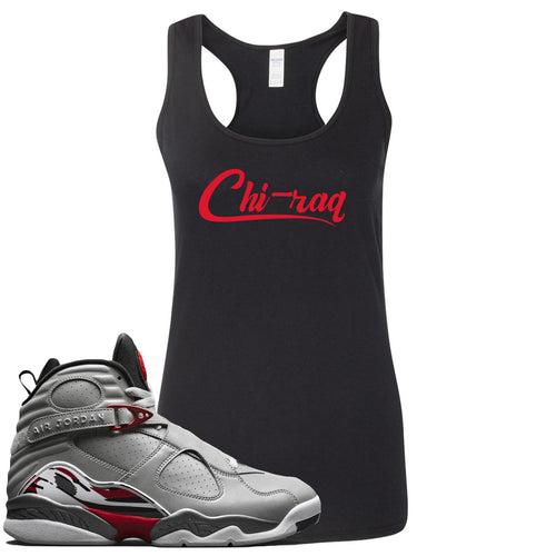 Air Jordan 8 Reflections of a Champion Sneaker Match Chi-raq Script Black Womens Tank Top