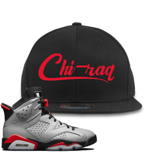 Air Jordan 6 Reflections of a Champion Sneaker Hook Up Chi-raq Script Black Snapback