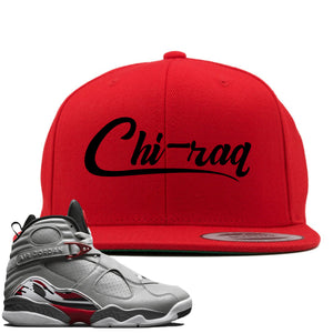 Air Jordan 8 Reflections of a Champion Sneaker Hook Up Chi-raq Script Red Snapback