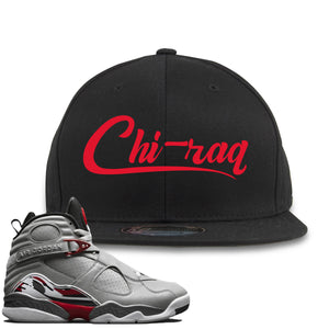 Air Jordan 8 Reflections of a Champion Sneaker Hook Up Chi-raq Script Black Snapback