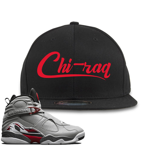 Air Jordan 8 Reflections of a Champion Sneaker Match Chi-raq Script Black Snapback