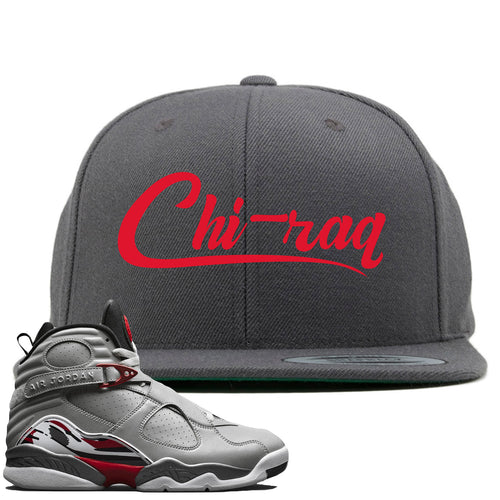 Air Jordan 8 Reflections of a Champion Sneaker Match Chi-raq Script Gray Snapback
