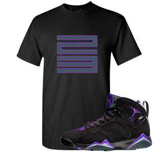 Air Jordan 7 Ray Allen Sneaker Hook Up 23 Black T-Shirt