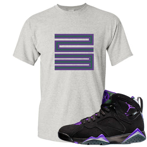 Air Jordan 7 Ray Allen Sneaker Hook Up 23 Gray T-Shirt