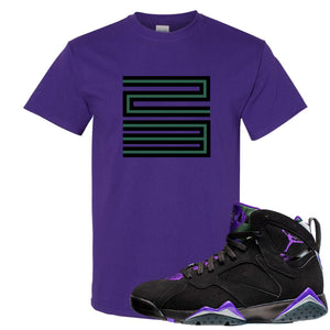 Air Jordan 7 Ray Allen Sneaker Hook Up 23 Purple T-Shirt
