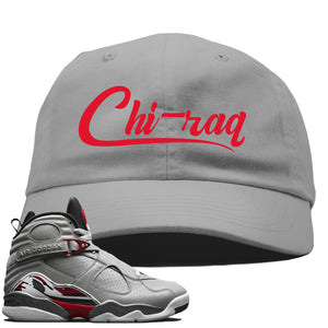 Air Jordan 8 Reflections of a Champion Sneaker Hook Up Chi-raq Script Gray Dad Hat
