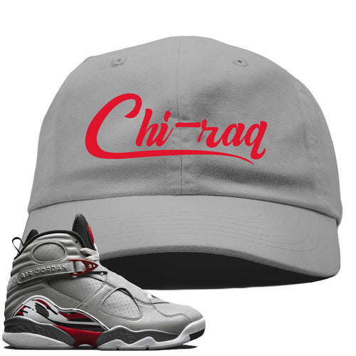 Air Jordan 8 Reflections of a Champion Sneaker Match Chi-raq Script Gray Dad Hat