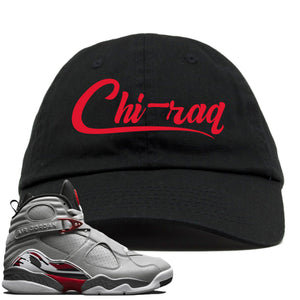 Air Jordan 8 Reflections of a Champion Sneaker Hook Up Chi-raq Script Black Dad Hat