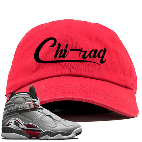 Air Jordan 8 Reflections of a Champion Sneaker Match Chi-raq Script Red Dad Hat