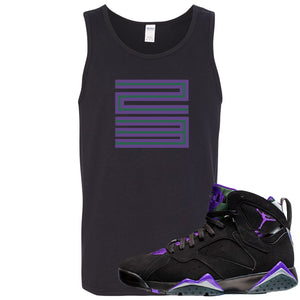 Air Jordan 7 Ray Allen Sneaker Hook Up 23 Black Mens Tank Top