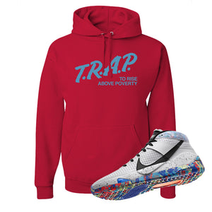 KD 13 Home Hoodie | Red, Trap To Rise Above Poverty