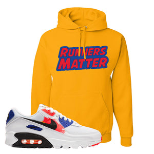 Air Max 90 Paint Streaks Hoodie | Runners Matter, Gold