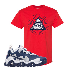 Air Barrage Low USA T Shirt | Red, All Seeing Eye
