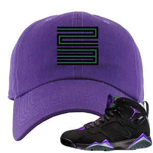 Air Jordan 7 Ray Allen Sneaker Hook Up 23 Purple Dad Hat