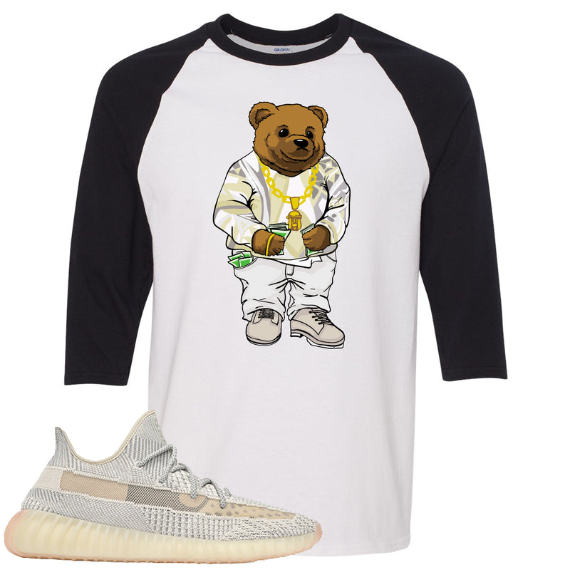 Adidas Yeezy Boost 350 v2 Lundmark Sneaker Hook Up Sweater Bear White and Black Raglan T-Shirt
