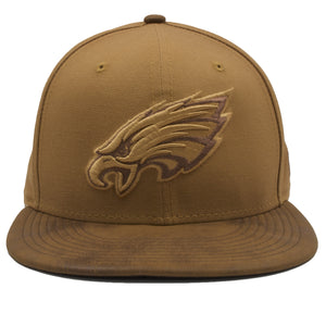 Philadelphia Eagles Wheat Timbs Suede Brim New Era 9Fifty Snapback Hat