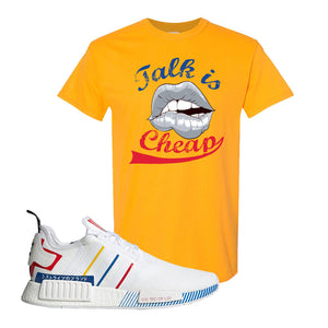NMD R1 Olympic Pack T Shirt | Gold, Talk is Cheap