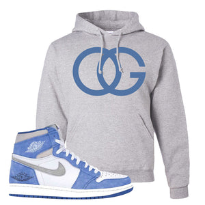 Air Jordan 1 High Hyper Royal Pullover Hoodie | OG, Ash