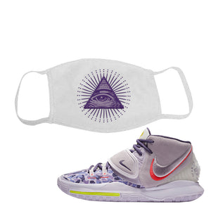 Kyrie 6 Asia Irving Face Mask | All Seeing Eye, White