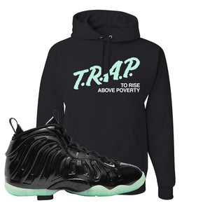 Foamposite One 2021 All Star Hoodie | Trap To Rise Above Poverty, Black