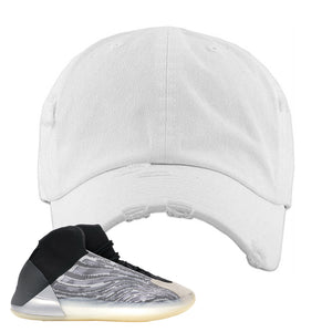 Yeezy Quantum Distressed Dad Hat | White, BLANK