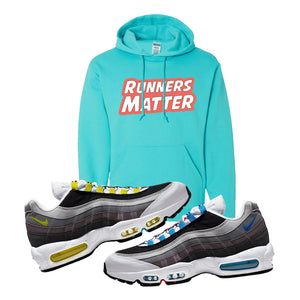 Air Max 95 QS Greedy Hoodie | Scuba Blue, Runners Matter