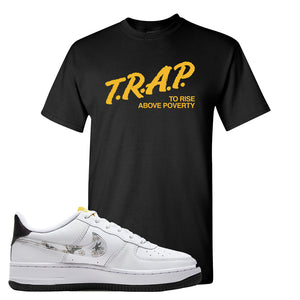 Air Force 1 T Shirt | Black, Trap To Rise Above Poverty