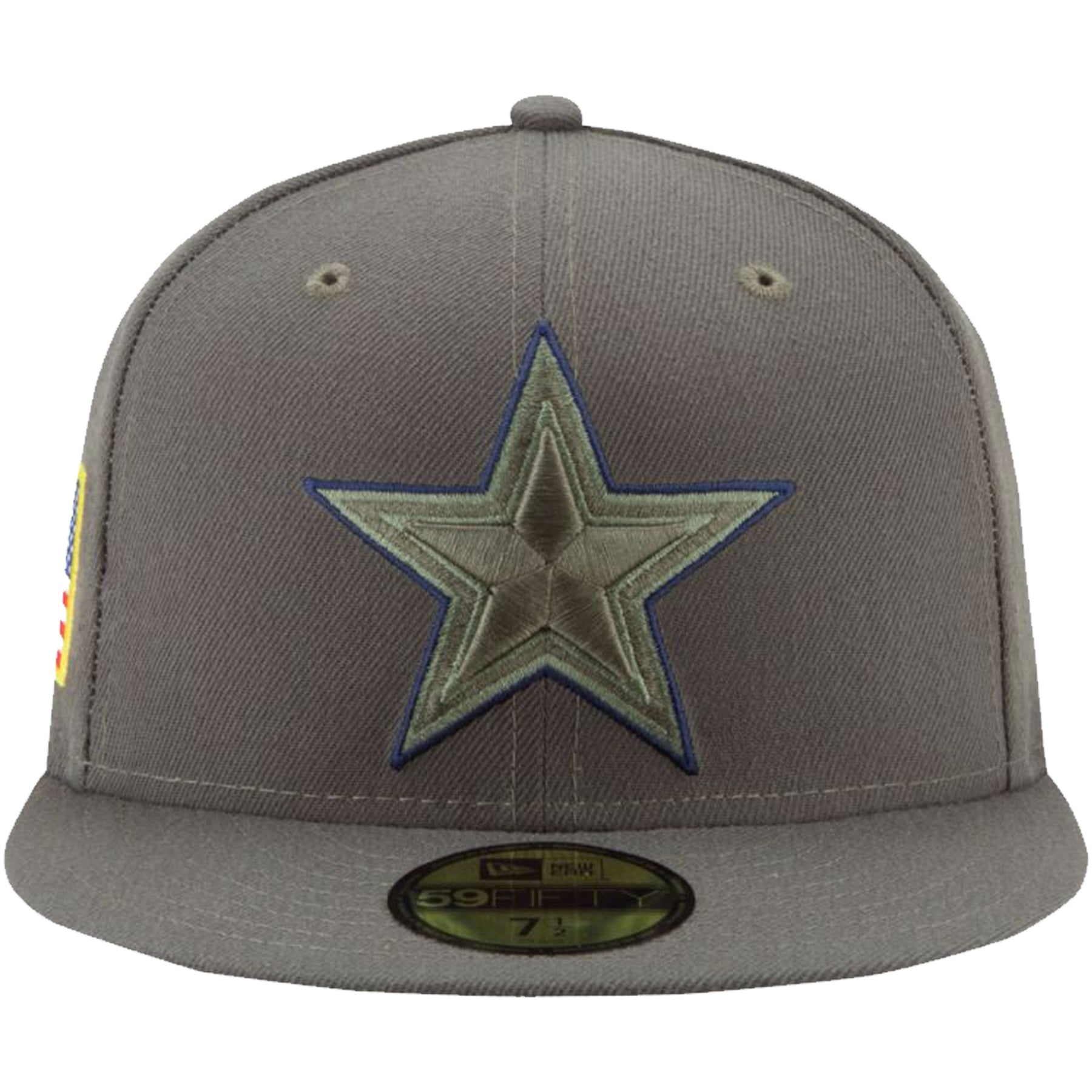 new arrivals 00a75 a9aa1 on the front of the dallas cowboys salute to service fitted cap, the cowboys  logo