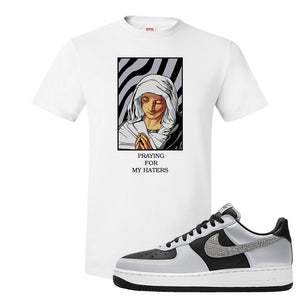Air Force 1 3M Snake T Shirt | God Told Me, White