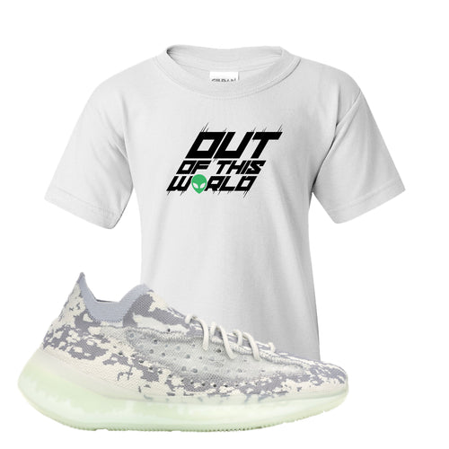 Yeezy Boost 380 Alien Outta This World White Sneaker Matching Kid's T-Shirt