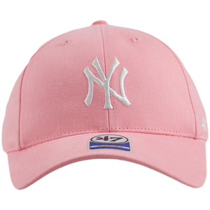 New York Yankees Kid's Sized Pink Adjustable Velcro-Strap Baseball Cap