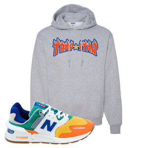 997S Multicolor Sneaker Athletic Heather Pullover Hoodies | Hoodies to match New Balance 997S Multicolor Shoes | Trap Star