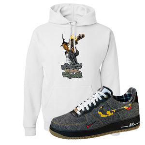 Air Force 1 Low Plaid And Camo Remix Pack Hoodie | Dont Hate The Playa, White