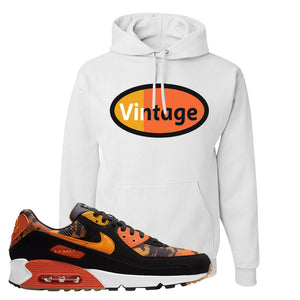 Air Max 90 Orange Camo Hoodie | Vintage Oval, White