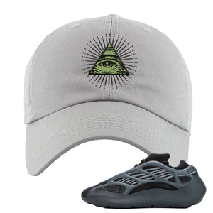 Yeezy Boost 700 V3 Alvah Sneaker Light Gray Dad Hat | Hat match Adidas Yeezy Boost 700 V3 Alvah Shoes | All Seeing Eye