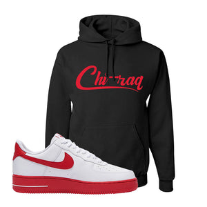 Air Force 1 Low Red Bottoms Hoodie | Black, Chiraq