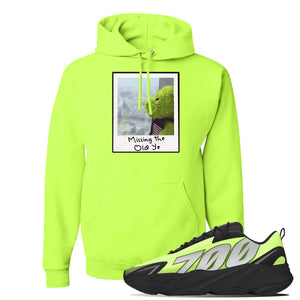 Yeezy 700 MNVN Phosphor Hoodie | Missing The Old Ye, Safety Green
