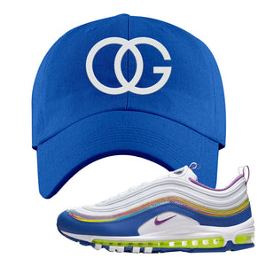 Air Max 97 'Easter' Sneaker Royal Dad Hat | Hat to match Nike Air Max 97 'Easter' Shoes | OG