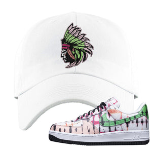 Air Force 1 Low Multi-Colored Tie-Dye Dad Hat | White, Indian Chief