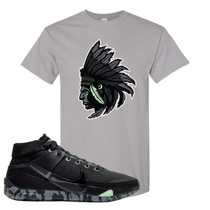 Nike KD 13 Black And Dark Grey T-Shirt | Indian Chief, Gravel