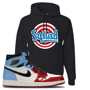 Air Jordan 1 Fearless Squad Black Made to Match Pullover Hoodie