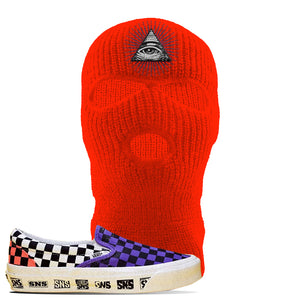 Vans Slip On Venice Beach Pack Ski Mask | Safety Orange, All Seeing Eye
