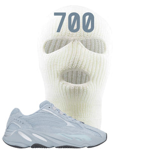 Yeezy Boost 700 V2 Hospital Blue 700 Sneaker Matching White Ski Mask