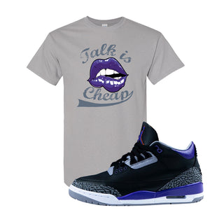 Air Jordan 3 Court Purple T Shirt | Talk Is Cheap, Gravel