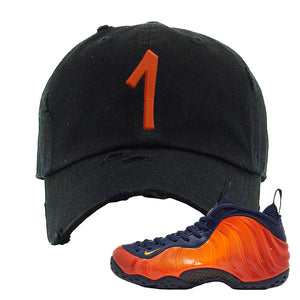 Foamposite One OKC Distressed Dad Hat | Black, Penny One