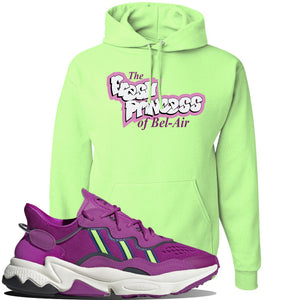 Ozweego Vivid Pink Sneaker Neon Green Pullover Hoodie | Hoodie to match Adidas Ozweego Vivid Pink Shoes | Fresh