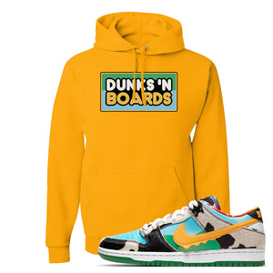 SB Dunk Low 'Chunky Dunky' Hoodie | Gold, Dunks 'N Boards