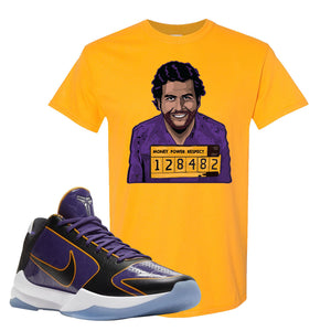 Kobe 5 Protro 5x Champ T Shirt | Escobar Illustration, Gold