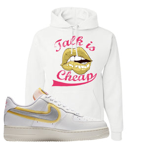 Air Force 1 Low 07 LX White Gold Hoodie | Talk Is Cheap, White